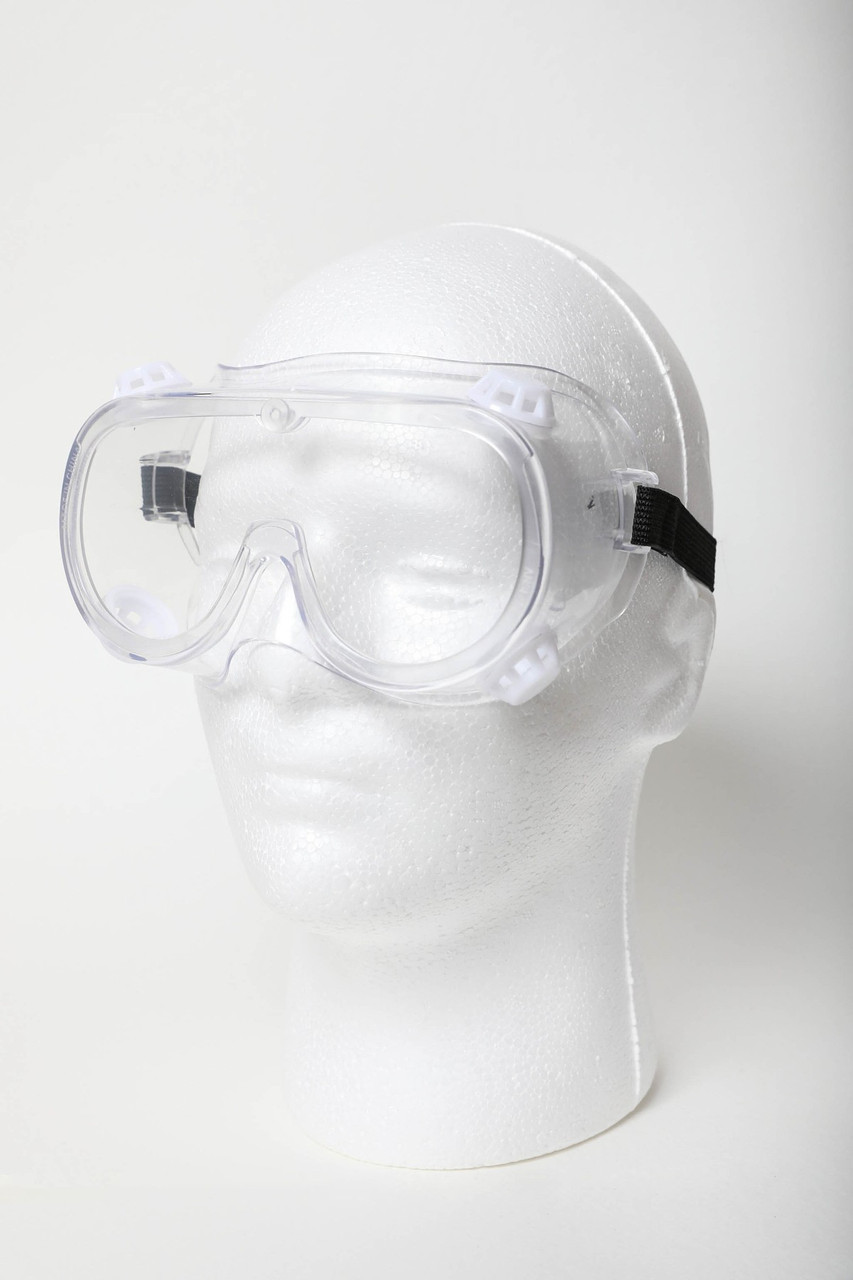 Image of Protective Goggles modeled on a mannequin headform.