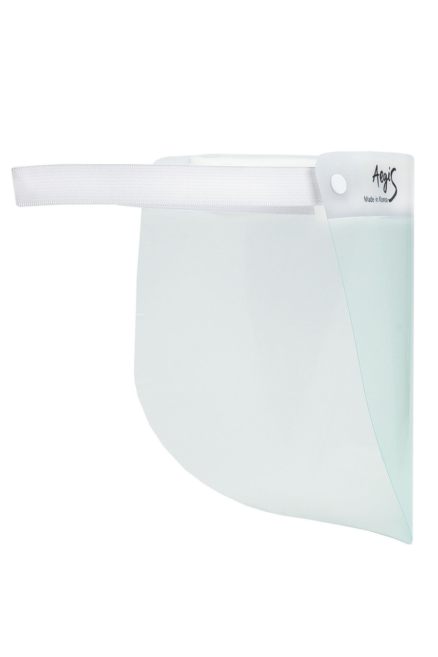 Back view of Professional Grade Face Shield - Individually Wrapped showing adjustable comfort band.