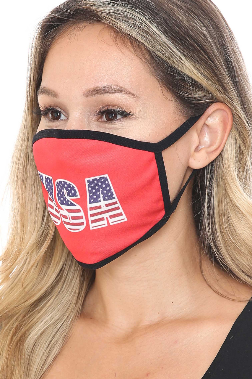 45 degree view of Election USA Face Mask