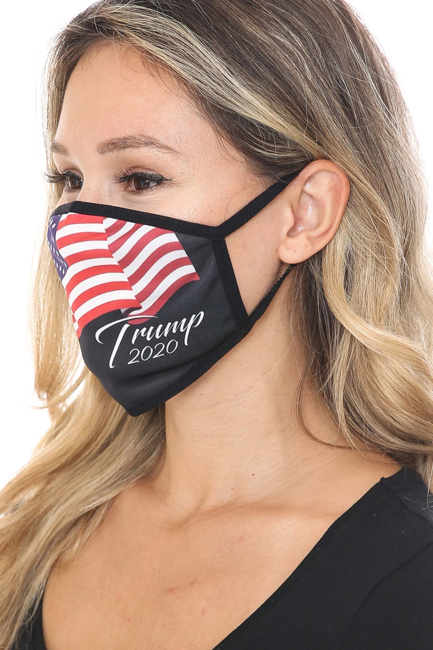 Left side view of Trump 2020 Face Mask