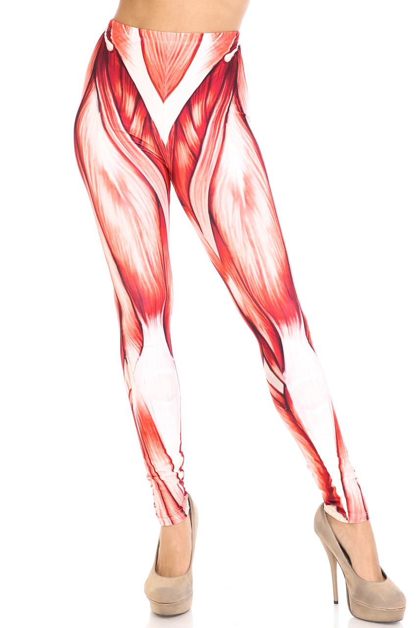 Front view of Creamy Soft Muscle Leggings - By USA Fashion™ with a unique design and a flattering fit.
