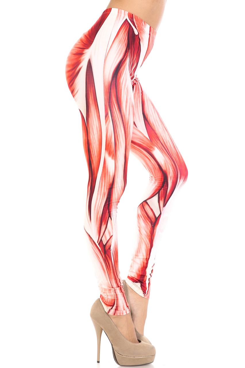Right side image of Creamy Soft Muscle Leggings - By USA Fashion™