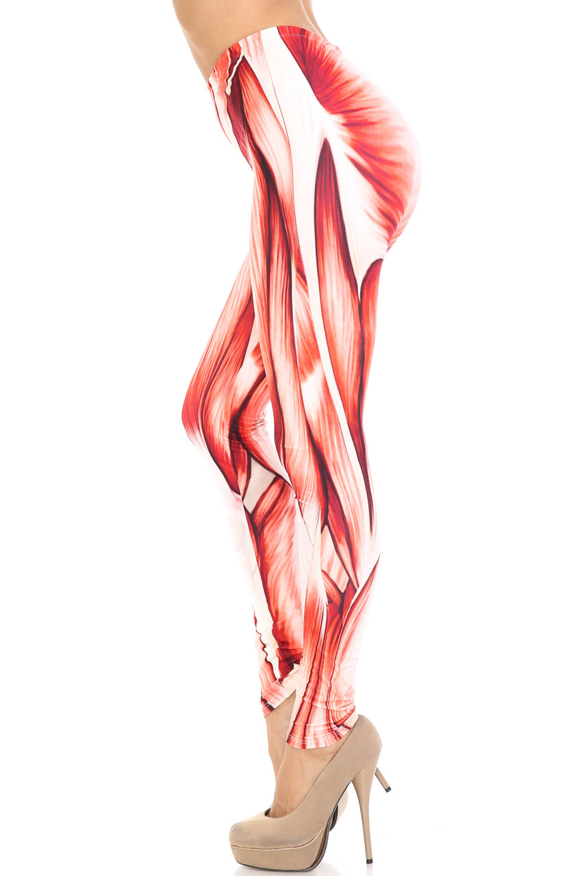 Left side image of Creamy Soft Muscle Leggings - By USA Fashion™