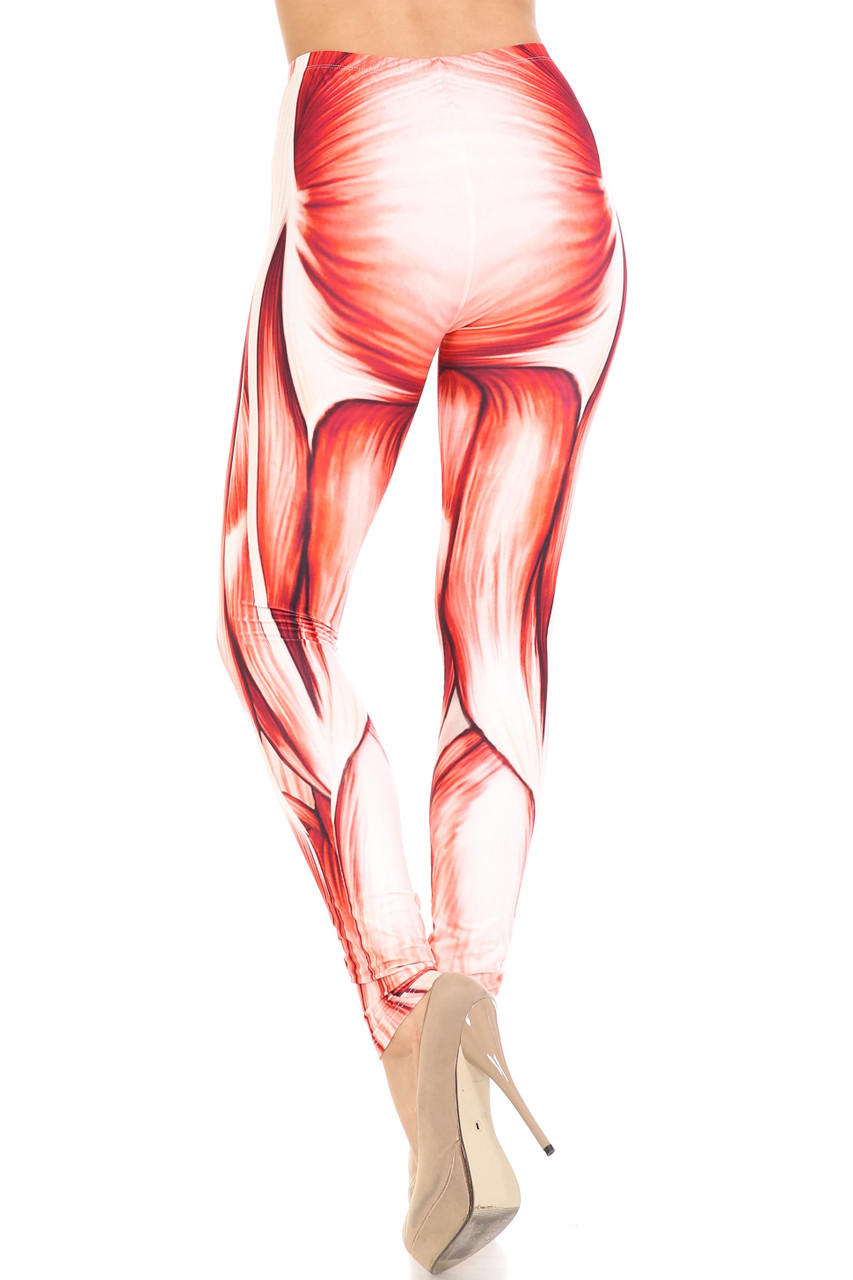 Back view of full length skinny leg Creamy Soft Muscle Leggings -  By USA Fashion™