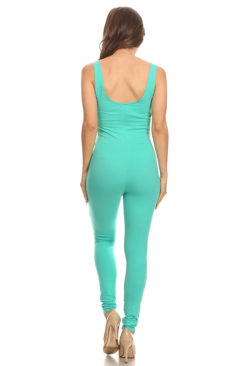 Back side image of USA Basic Cotton Jumpsuit