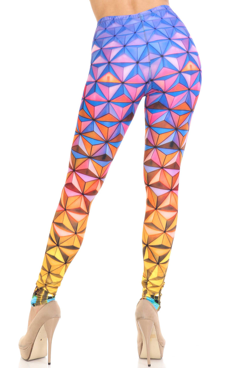Back view of Creamy Soft Ombre Epcot Leggings  - USA Fashion™