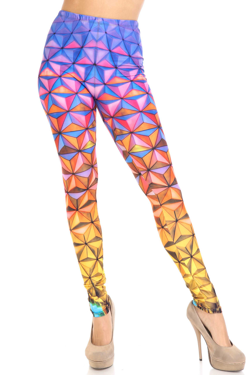 Front of Creamy Soft Ombre Epcot Extra Plus Size Leggings - 3X-5X - USA Fashion™