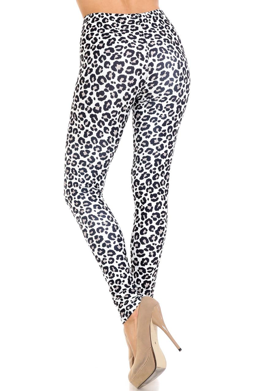 Back view of Creamy Soft Urban Leopard Extra Plus Size Leggings - 3X-5X - USA Fashion™