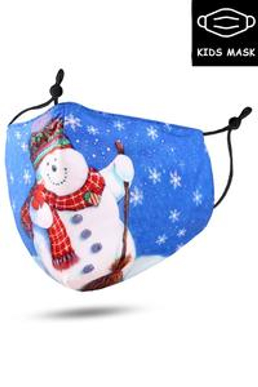Stand alone image of Frosty the Snowman Kids Christmas Face Mask