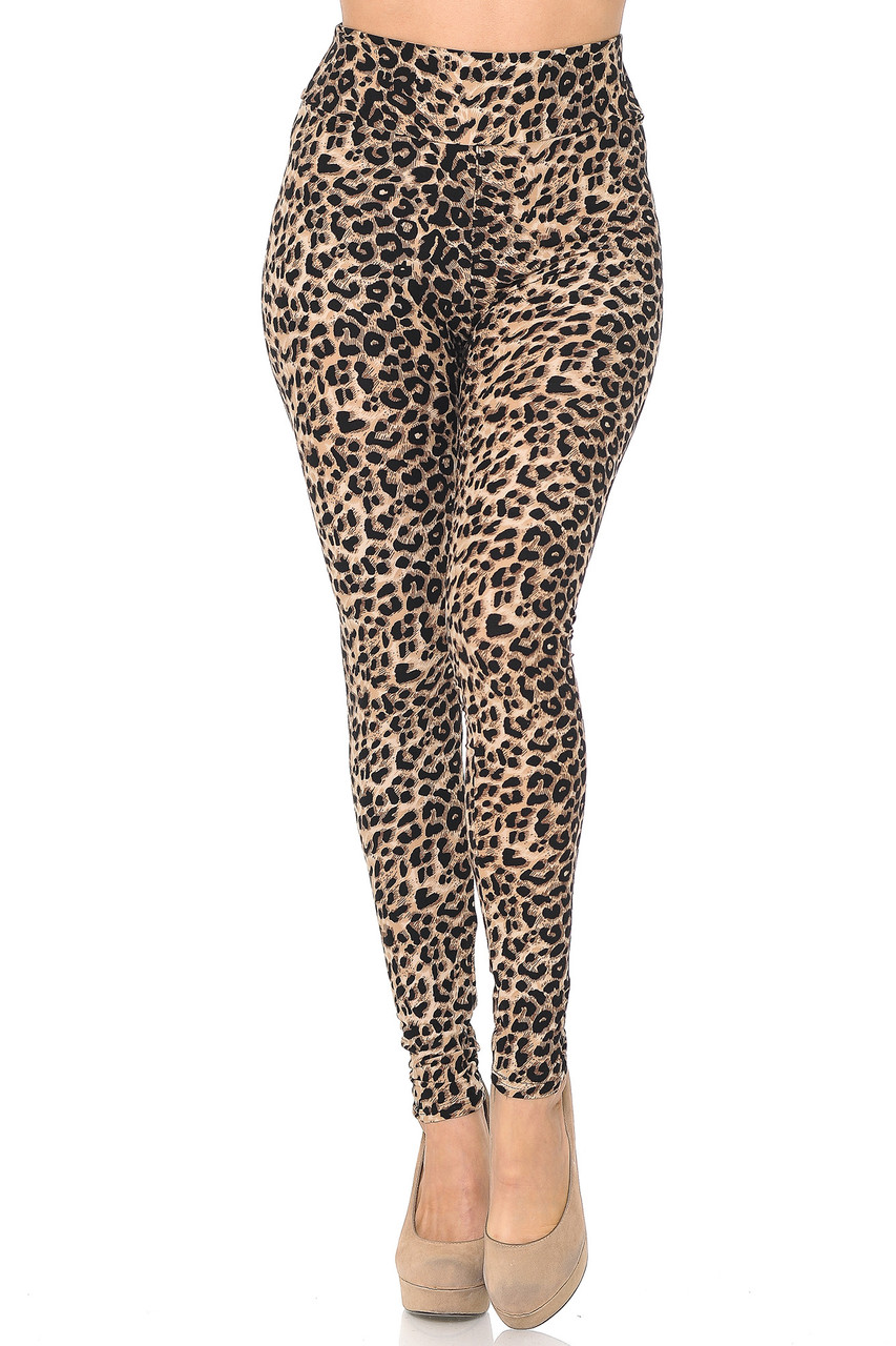 Front view of Buttery Soft Feral Cheetah High Waisted Leggings