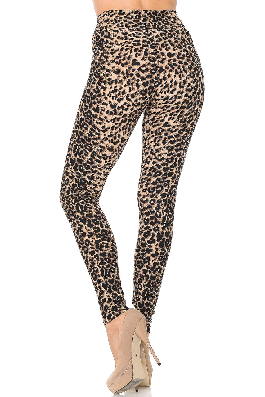 Rear view of Buttery Soft Feral Cheetah High Waisted Leggings