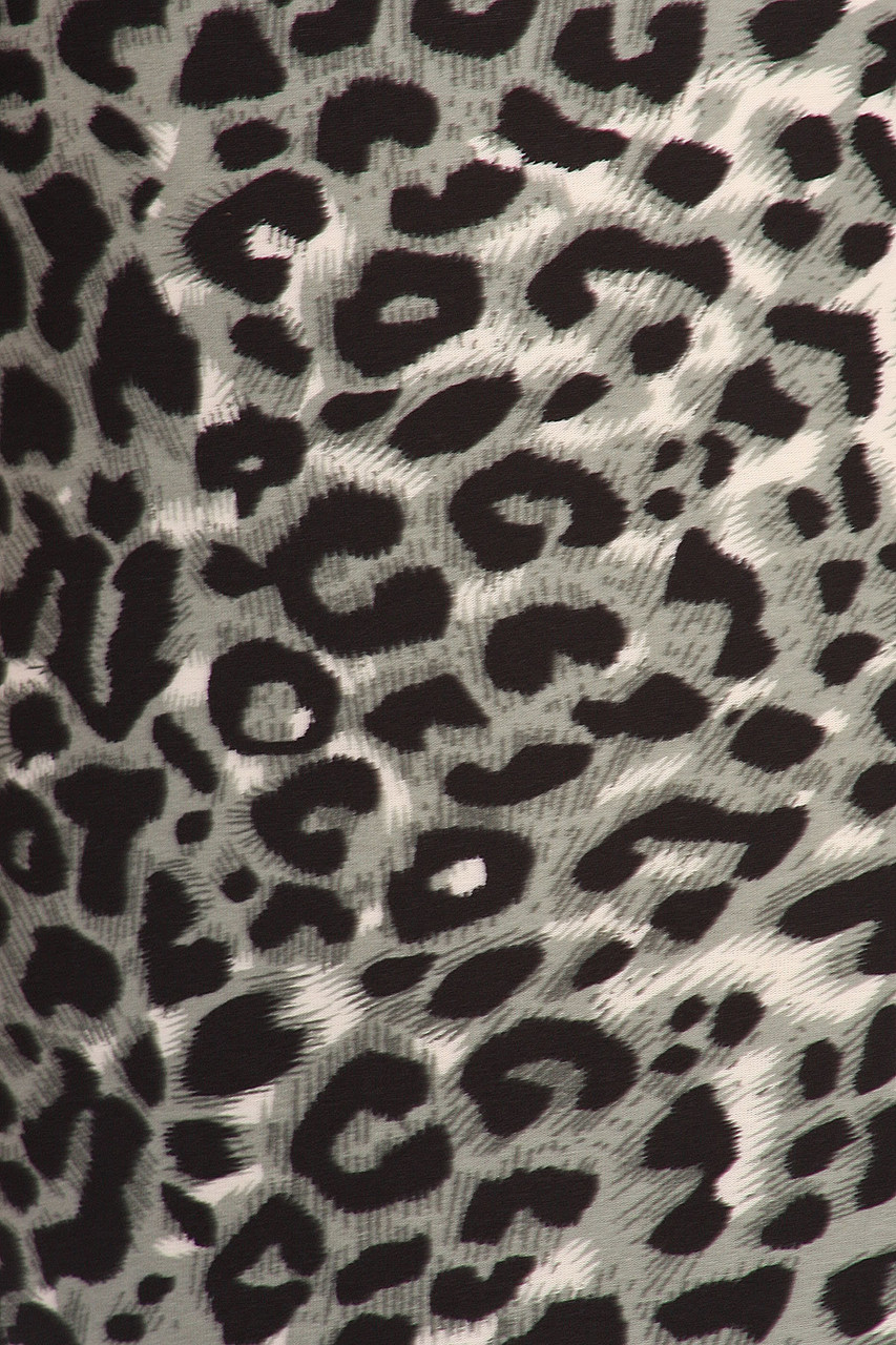 Close up swatch of Buttery Soft Snow Leopard Kids Leggings