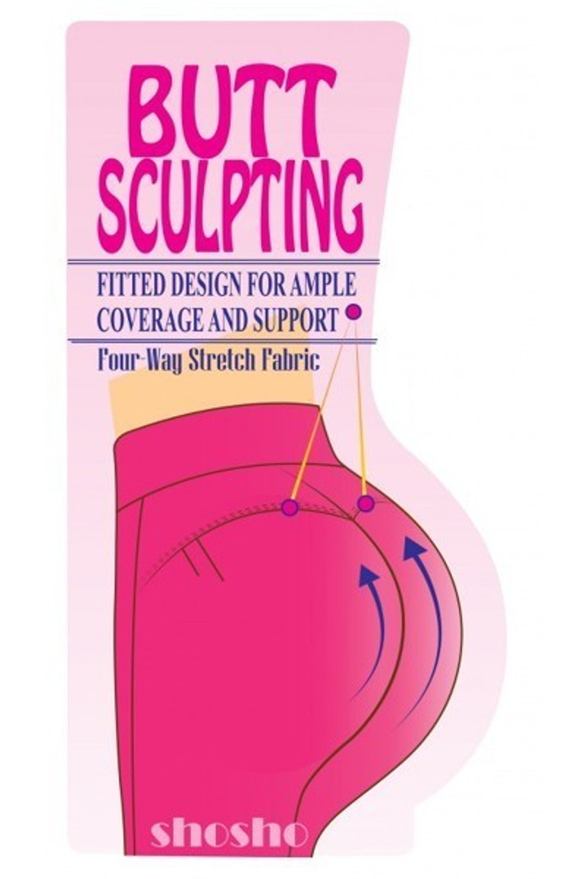 Illustration of butt sculpting abilities of Black High Waisted Body Sculpting Treggings with Zipper Pockets