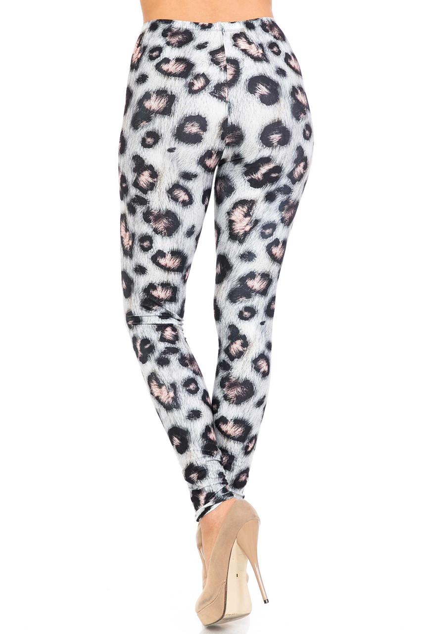 Back side of Creamy Soft Moda Leopard Extra Plus Size Leggings - 3X-5X - USA Fashion™