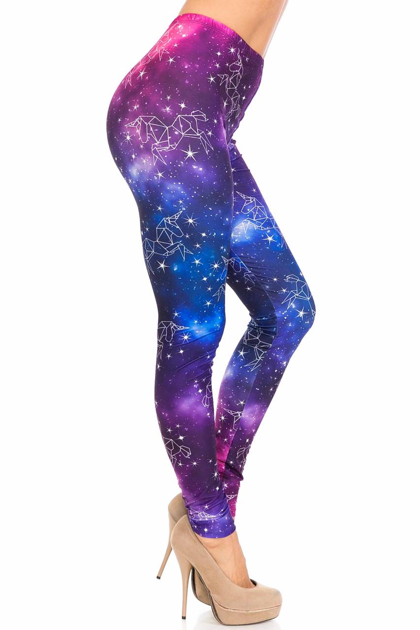 Right side of Creamy Soft Unicorn Galaxy Leggings - USA Fashion™
