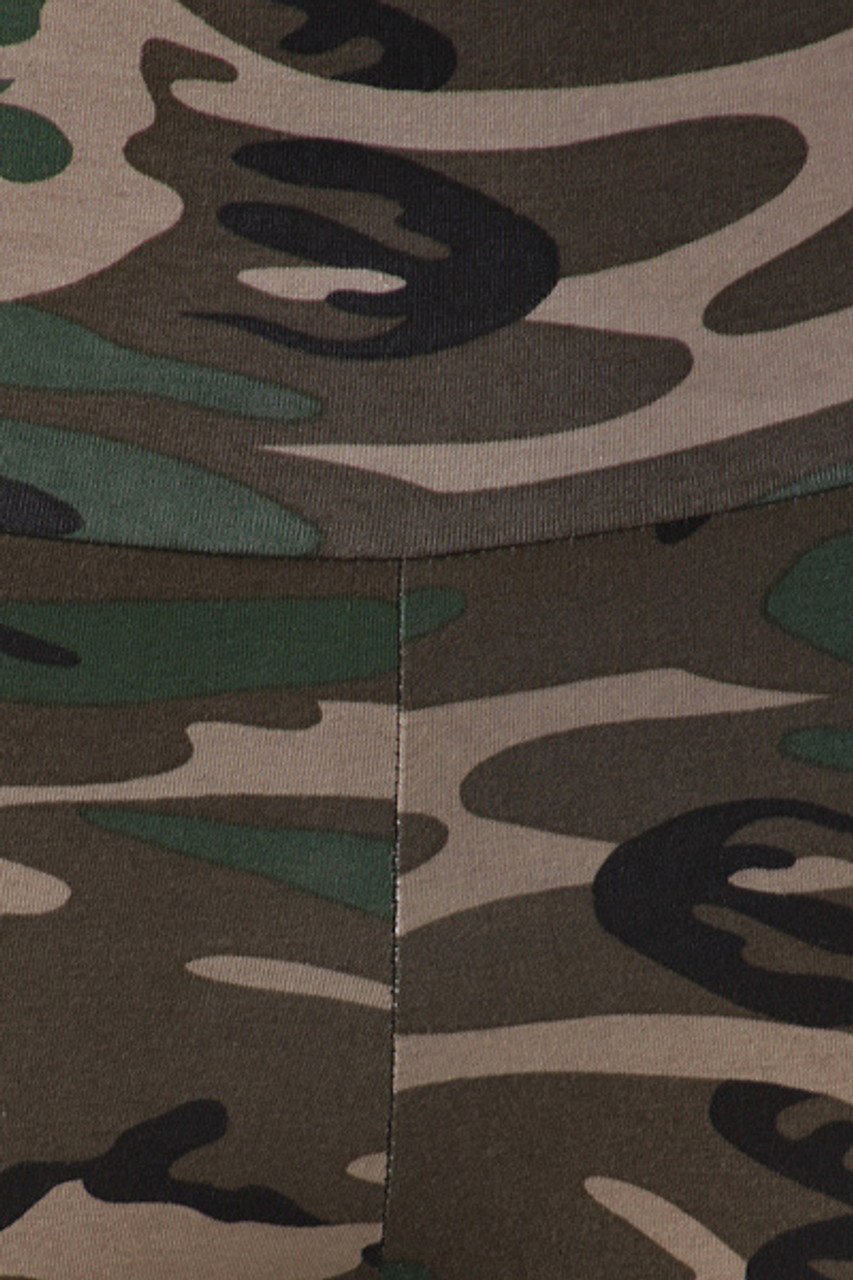 Close-up swatch of High Waisted Cotton Camouflage Leggings