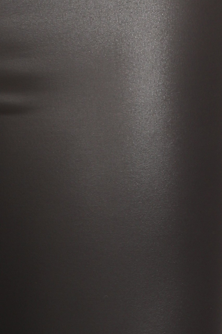 Close-up swatch of Faux Leather Bell Bottom Leggings - Made in USA