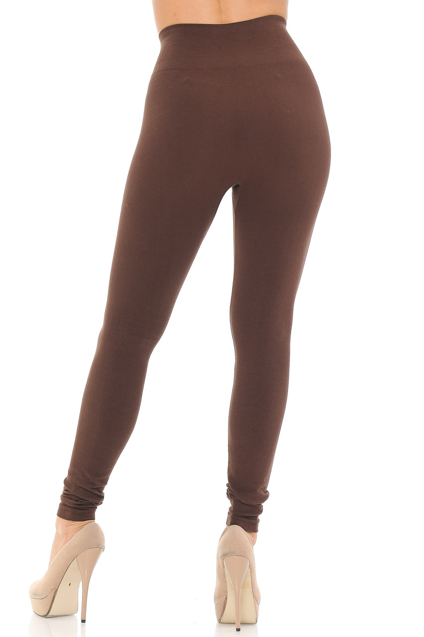Comfy Heathered High Waisted Plus Size Leggings