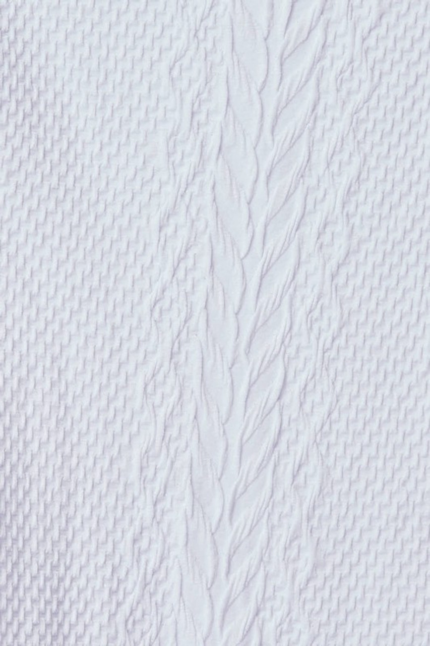 Close-up swatch of White Seamless Fitted Mock Neck Cable Knit Top