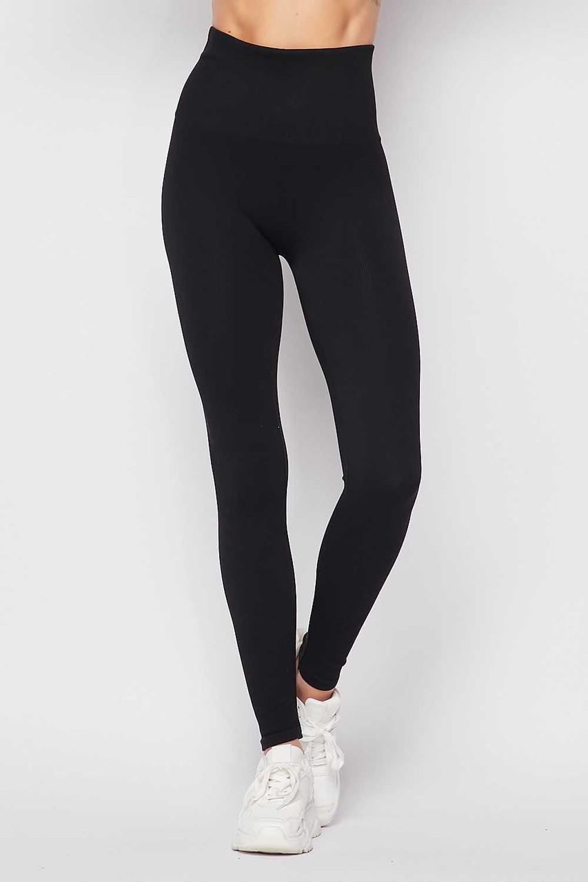 Black Premium Comfort Body Wrapped High Waist Workout Leggings