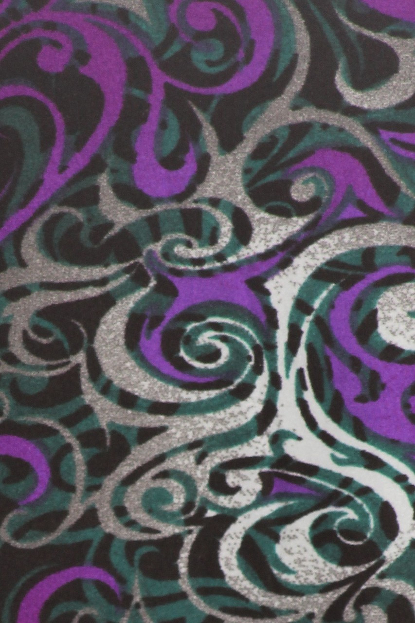 Purple Tangled Swirl Maxi Buttery Soft Skirt