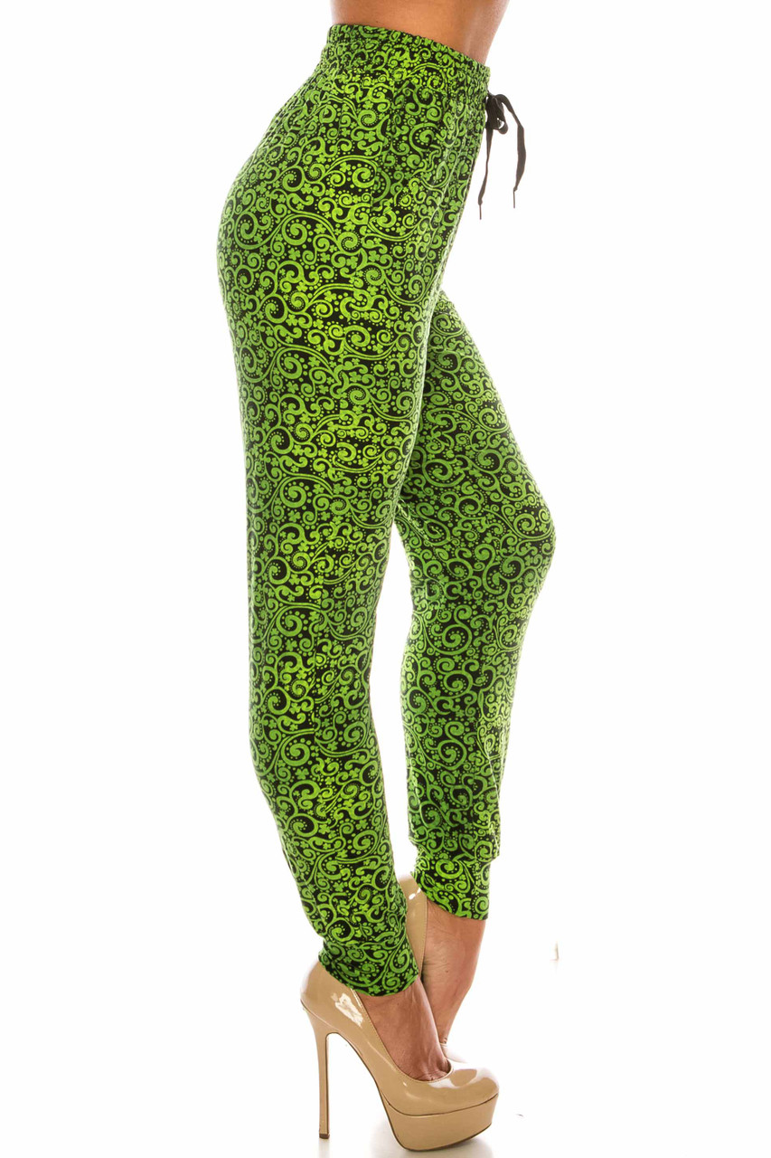 Green Irish Vine Buttery Soft Joggers - LIMITED EDITION