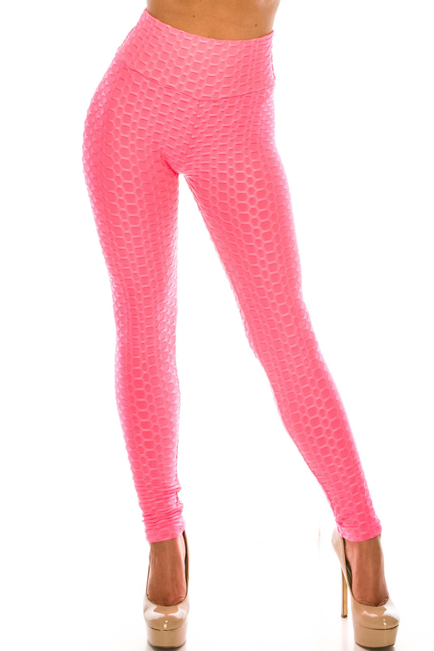 Front side image of Mauve Scrunch Butt Sport Leggings with Side Pockets