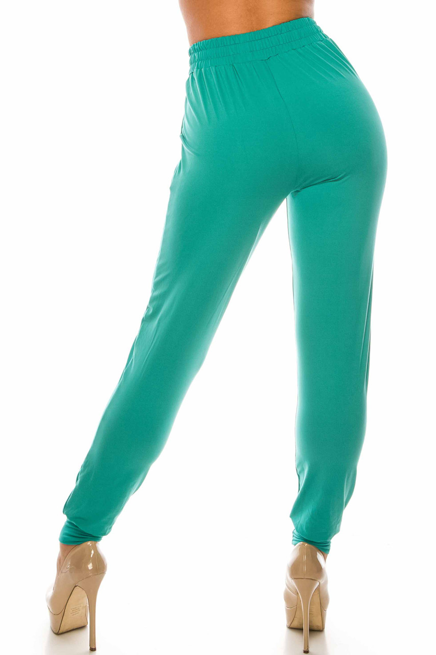 Back side image of Buttery Soft Solid Basic Jade Joggers - EEVEE
