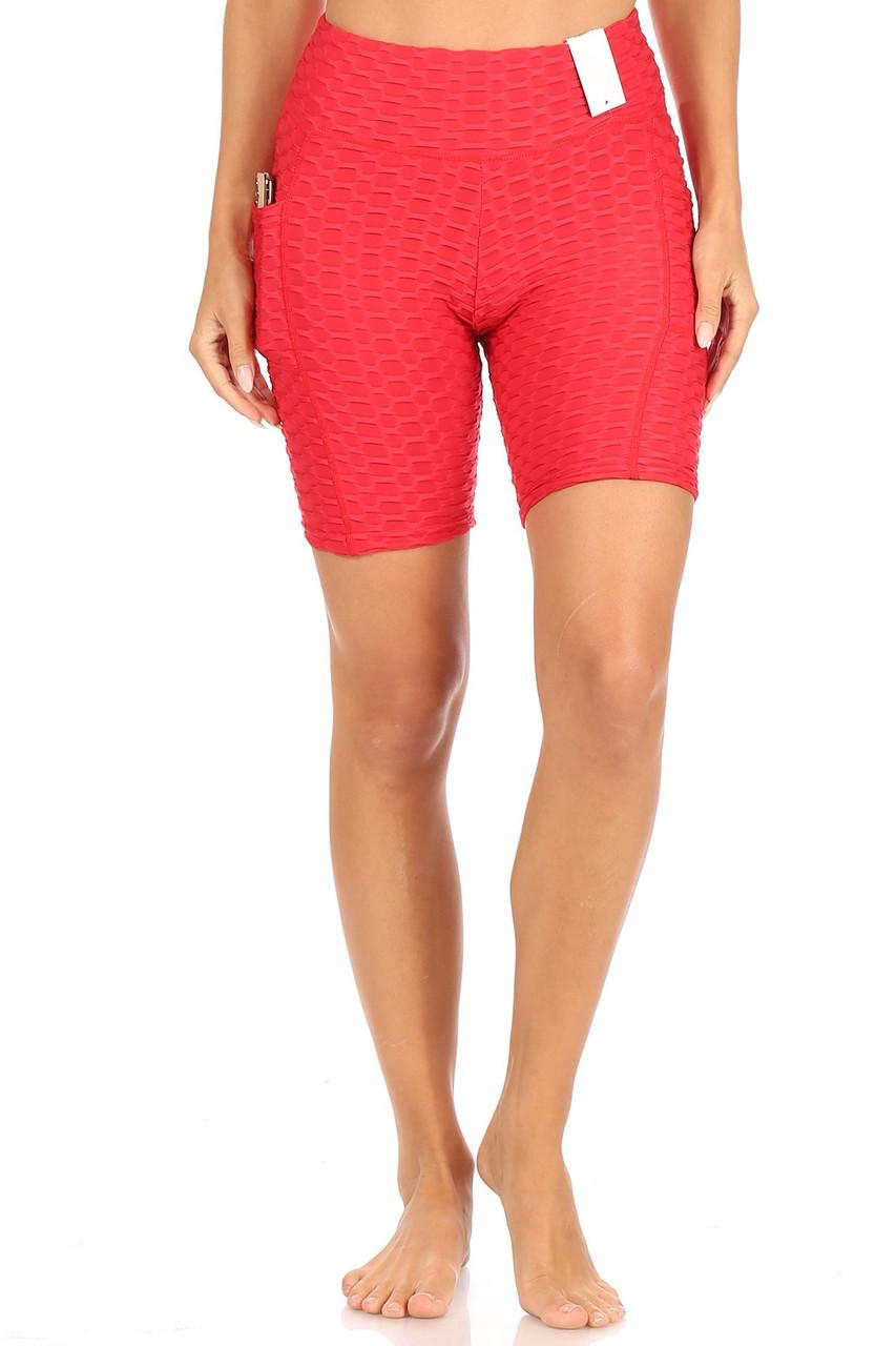 Scrunch Butt High Waisted Sport Shorts with Pockets