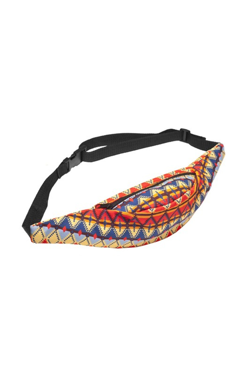 Image of Spicy Tribal Fanny Pack with a fabulous colorful aztec design