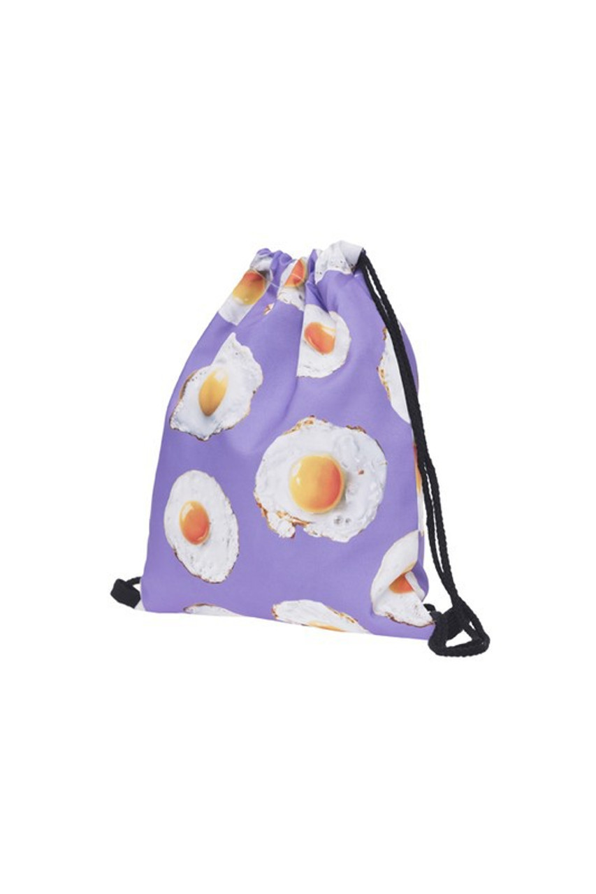 Fried Egg Graphic Print Drawstring Sack Backpack - 28 Styles