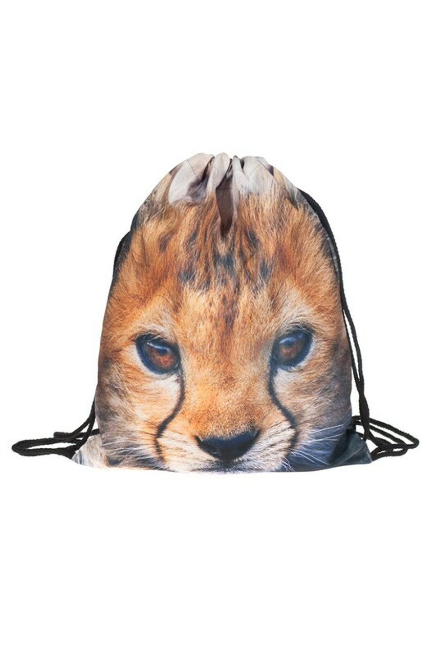 Cheetah Graphic Print Drawstring Sack Backpack - 28 Styles