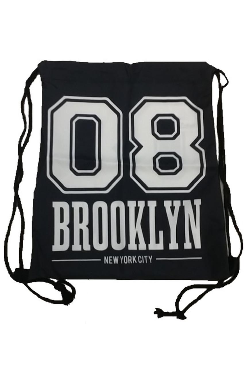 08 Brooklyn Graphic Print Drawstring Sack Backpack - 28 Styles