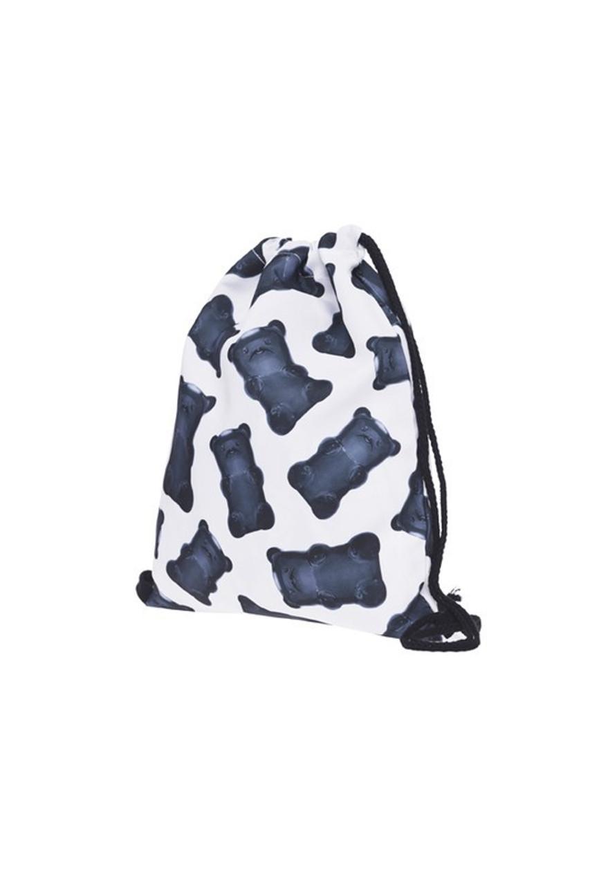 Gummy Bears Graphic Print Drawstring Sack Backpack - 28 Styles