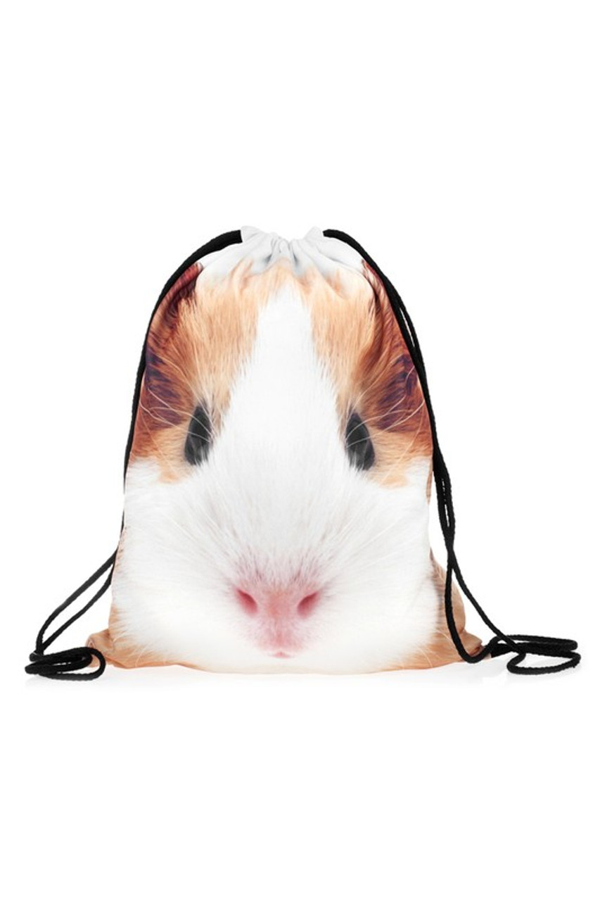 GUinea Pig Graphic Print Drawstring Sack Backpack - 28 Styles
