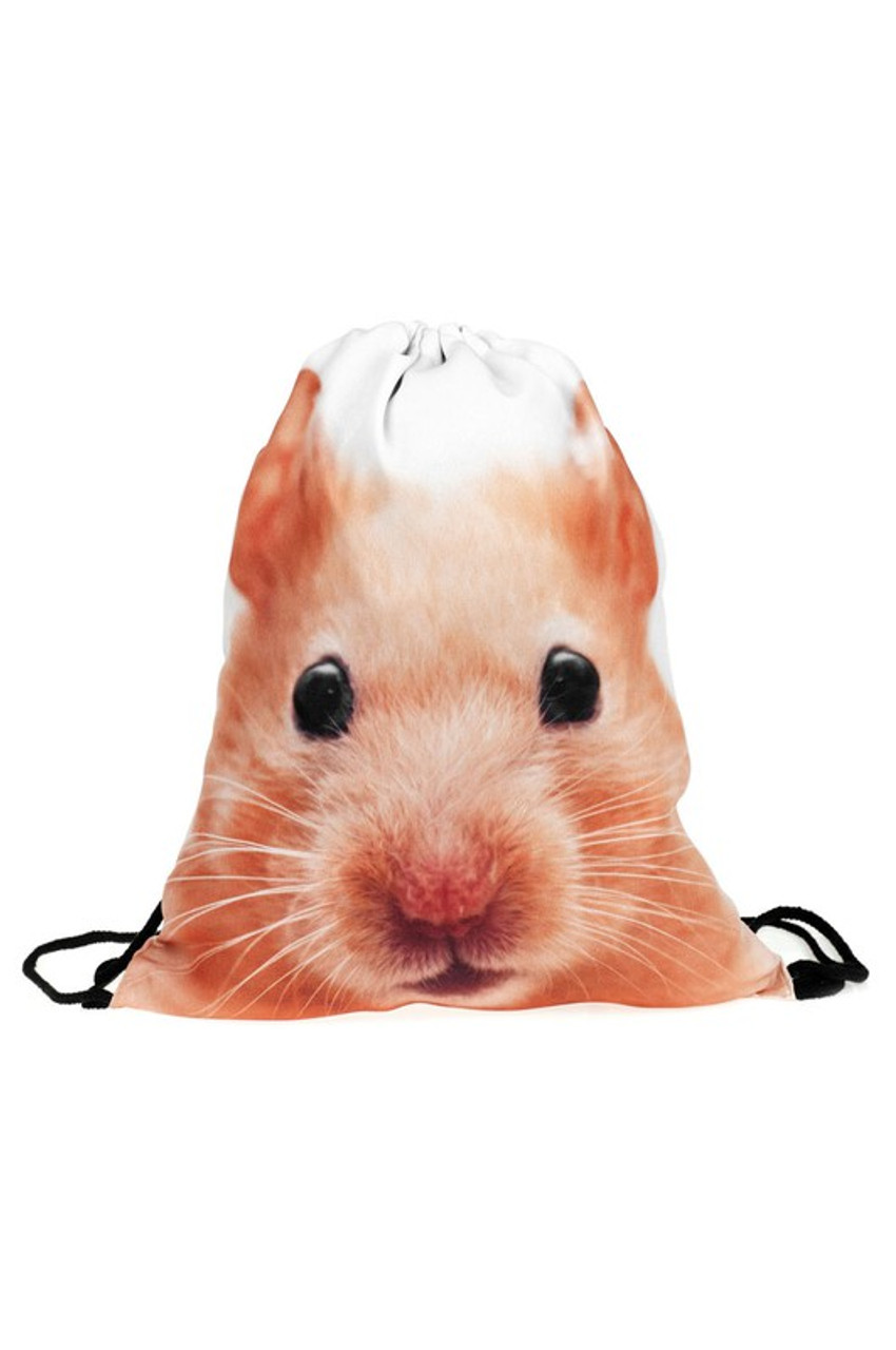 Hamster Graphic Print Drawstring Sack Backpack - 28 Styles