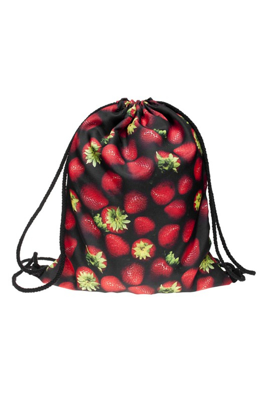 Strawberry Graphic Print Drawstring Sack Backpack - 28 Styles