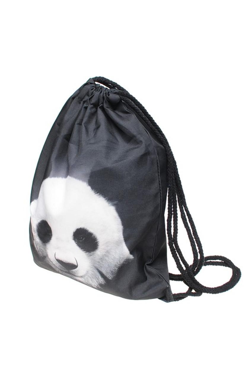 Panda Graphic Print Drawstring Sack Backpack - 28 Styles