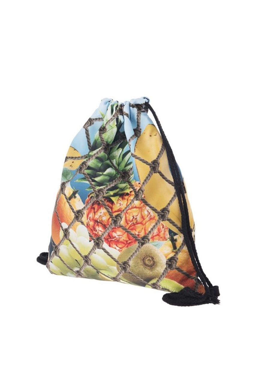 Fruit Net Graphic Print Drawstring Sack Backpack - 28 Styles