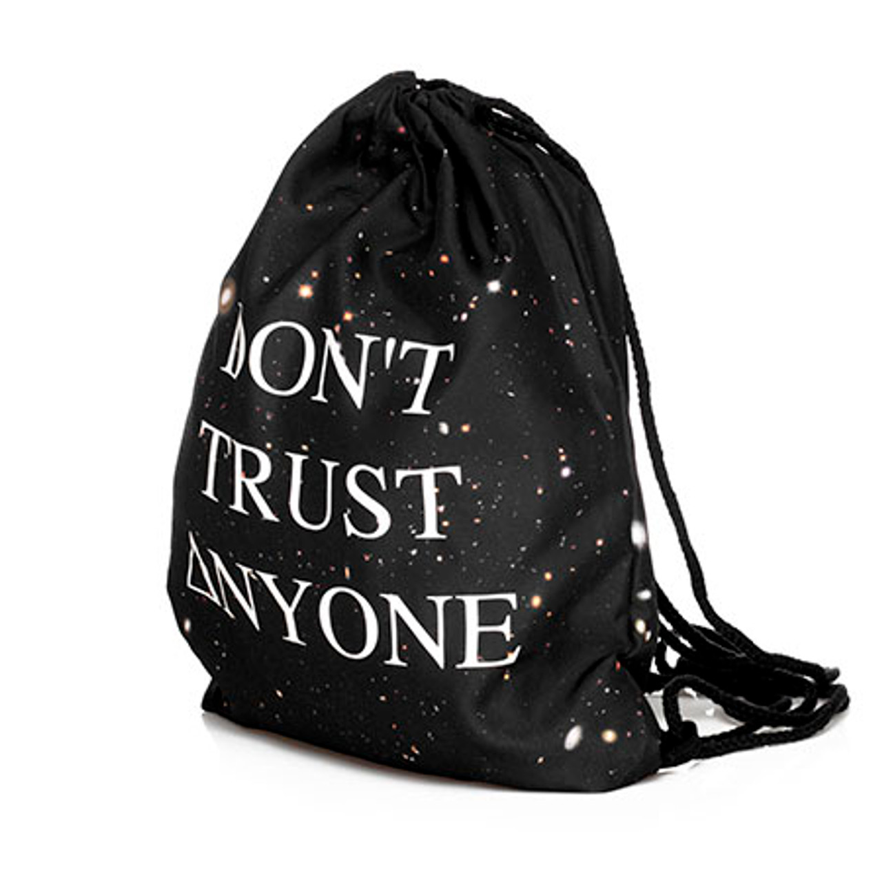 Don't Trust Anyone Graphic Print Drawstring Sack Backpack - 28 Styles