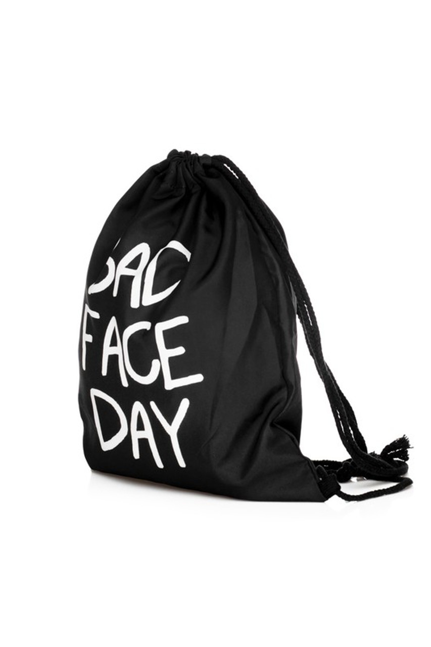 Bad Face Day Graphic Print Drawstring Sack Backpack - 28 Styles