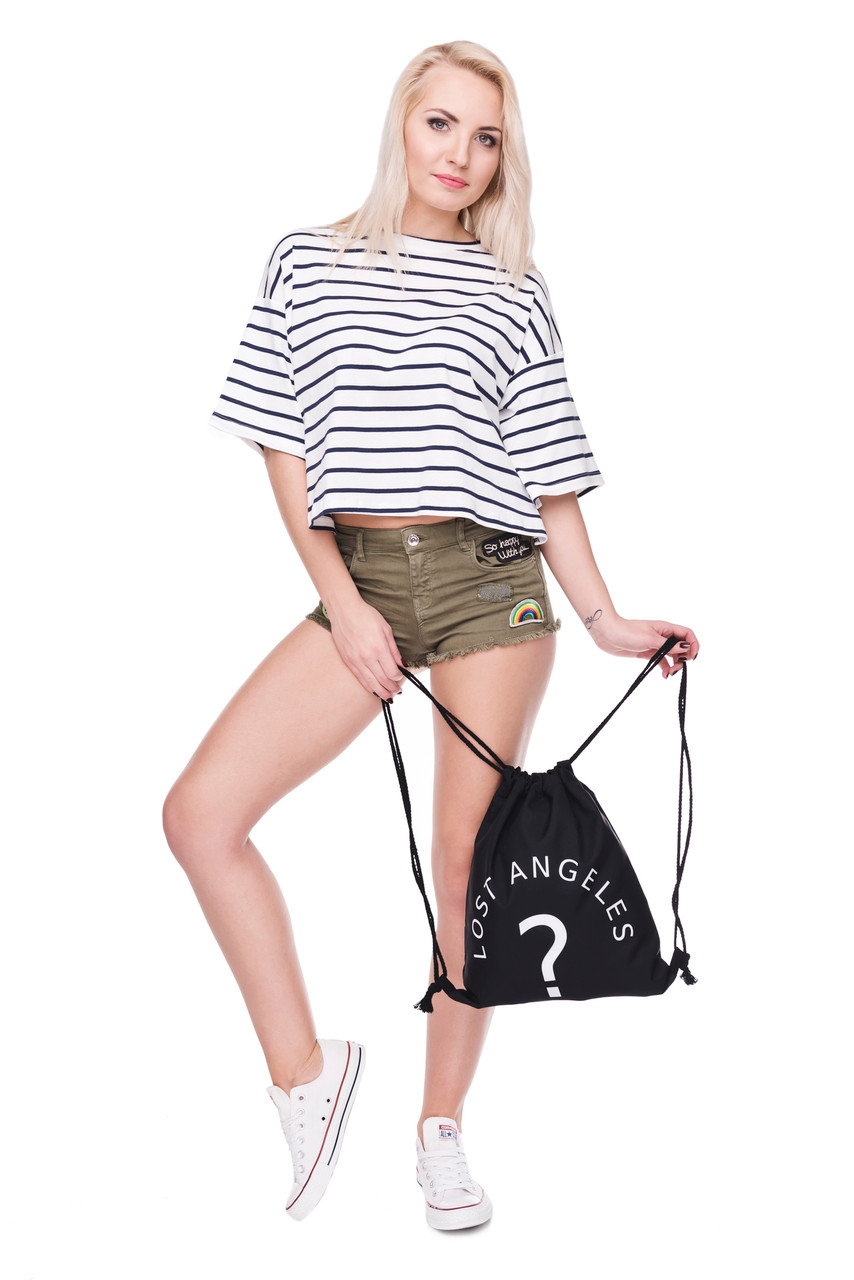 Lost Angeles Graphic Print Drawstring Sack Backpack - 28 Styles