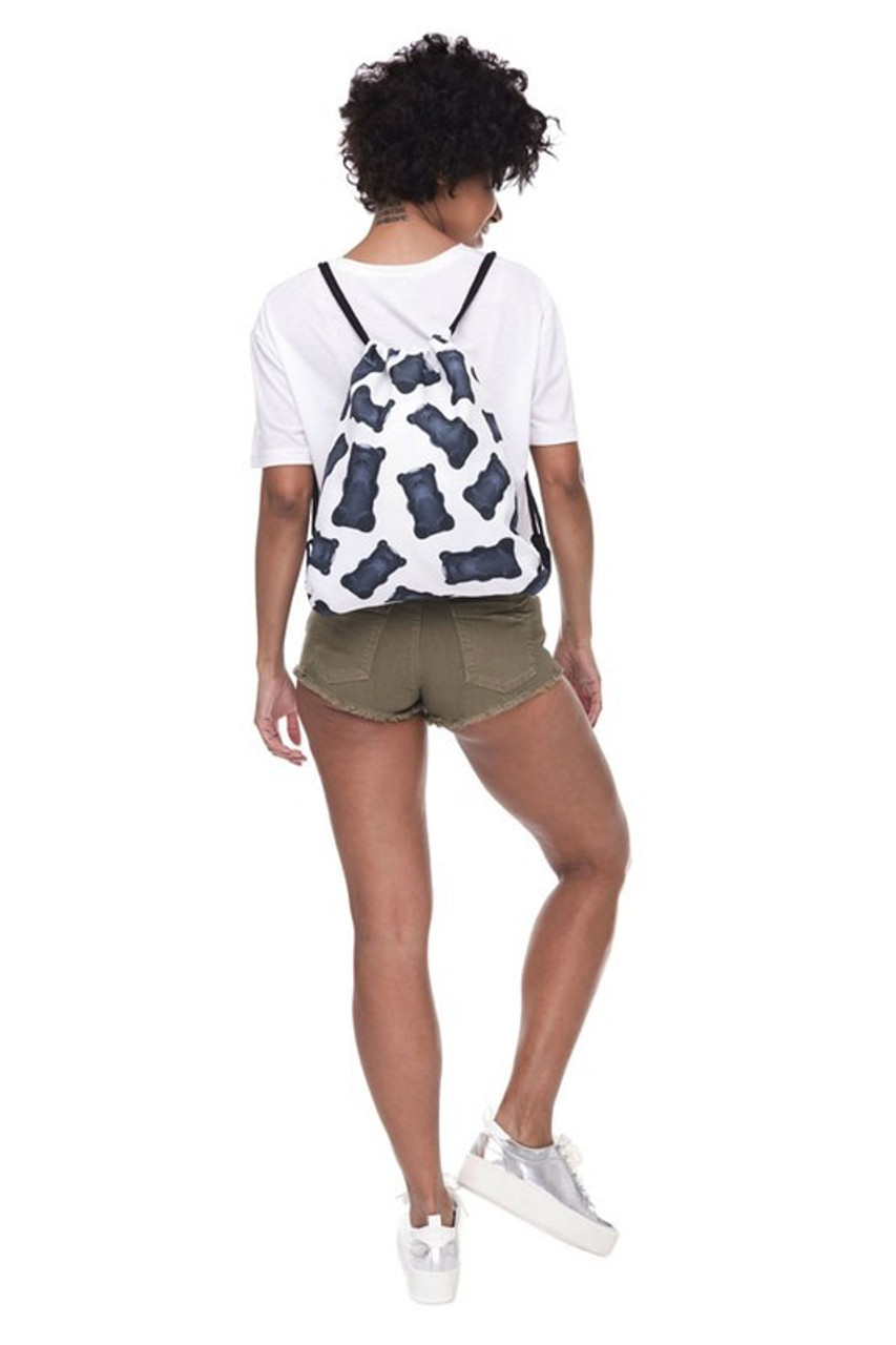 Gummy Bear Graphic Print Drawstring Sack Backpack - 28 Styles