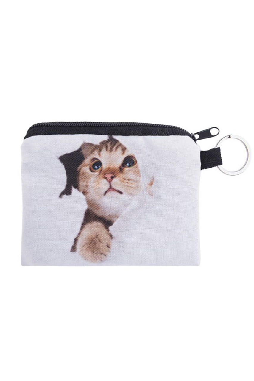 Kitty Cat Surprise  Graphic Print Coin Purse - 18 Styles