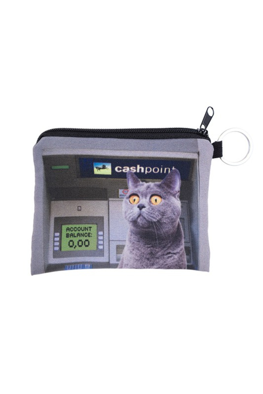 ATM Kitty Cat Graphic Print Coin Purse - 18 Styles