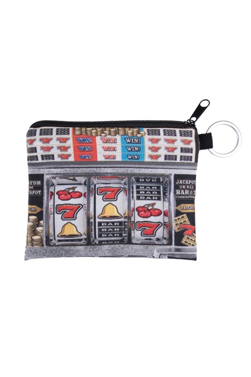 Slot Machine Graphic Print Coin Purse
