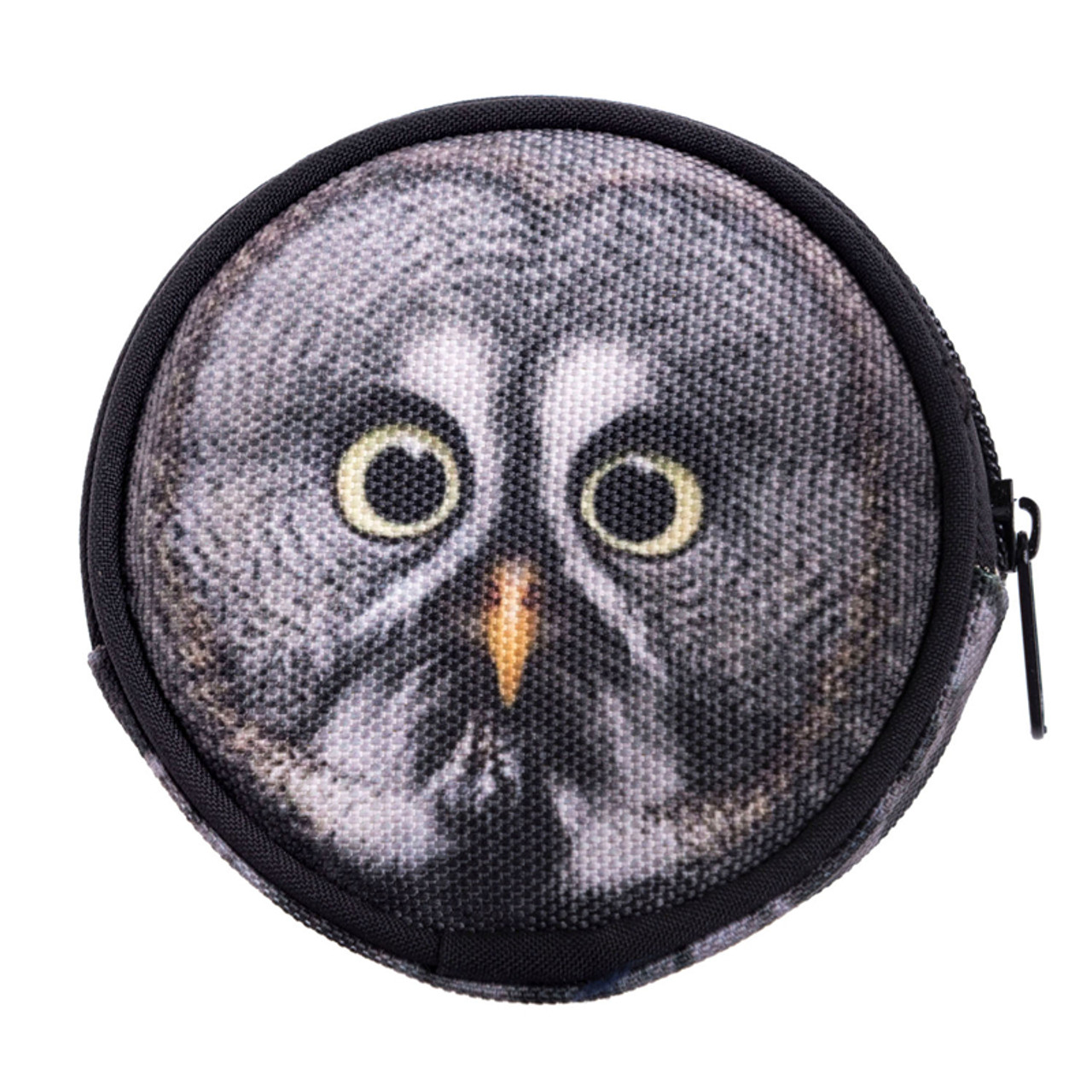 Gray Owl Round Graphic Print Coin Purse - 18 Styles