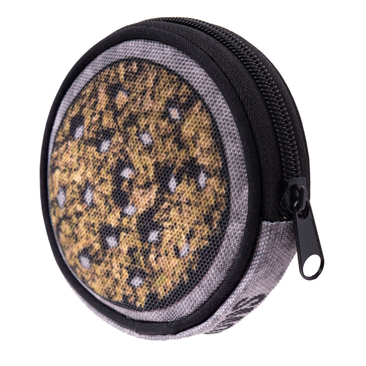 45 degree view of Weed grinder Round Graphic Print Coin Purse - 18 Styles