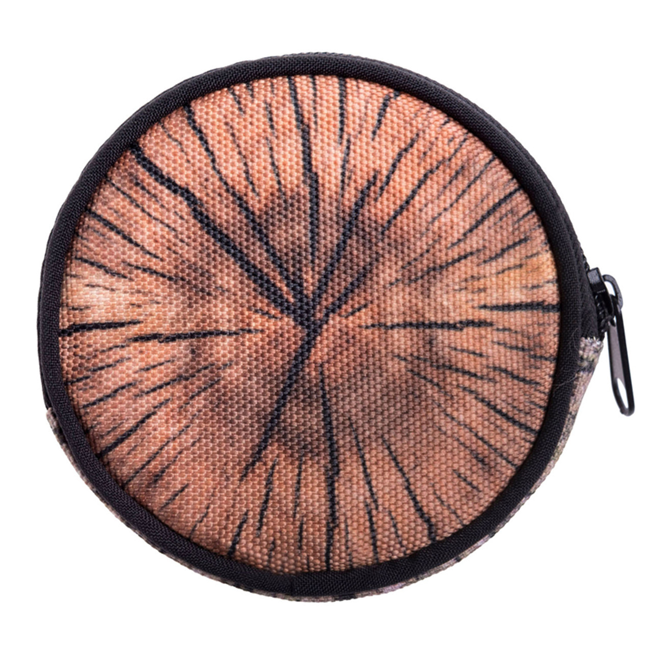 Wood Round Graphic Print Coin Purse - 18 Styles
