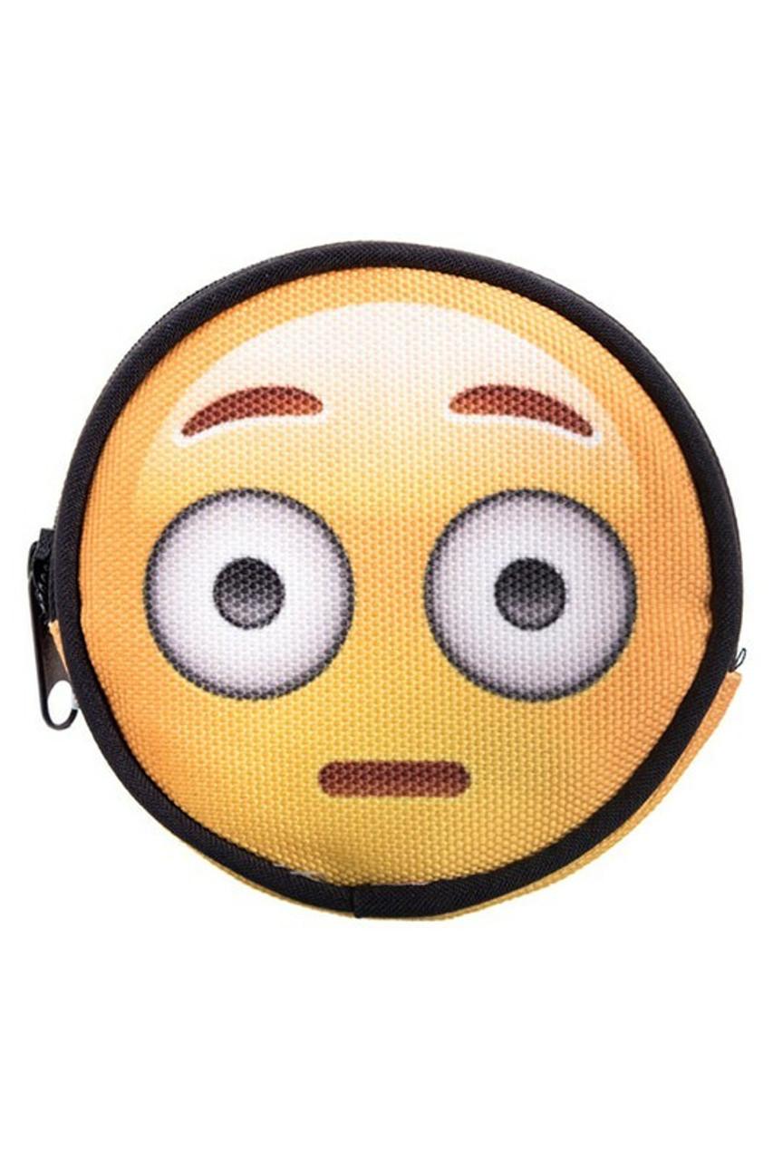 Emoji Big Eyes Round Graphic Print Coin Purse - 18 Styles